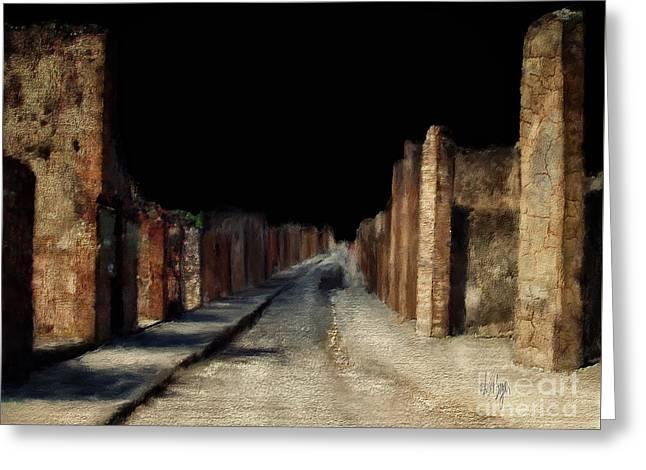 Main Street, Pompeii Greeting Card