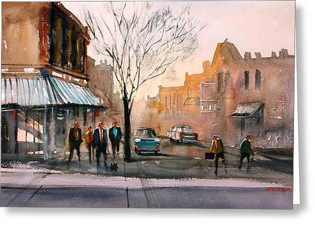 Main Street - Steven's Point Greeting Card by Ryan Radke