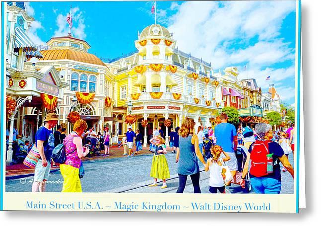 Main Street U.s.a. Magic Kingdom Walt Disney World Greeting Card