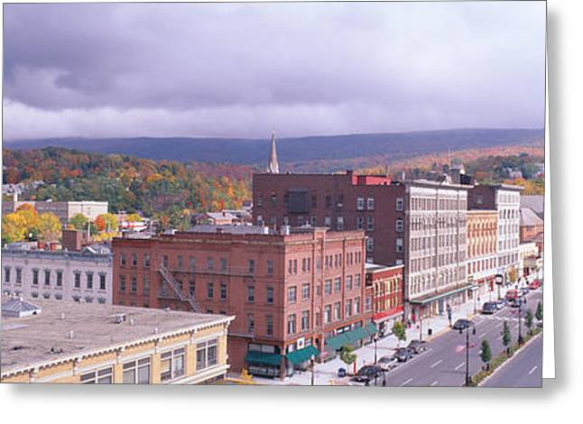 Main Street Usa, North Adams Greeting Card by Panoramic Images