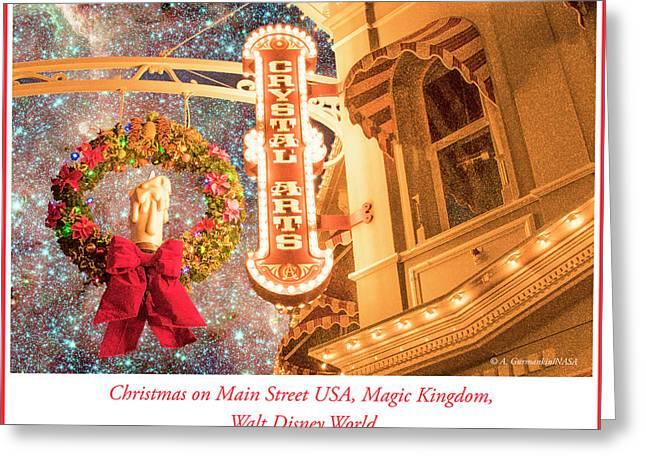 Main Street Usa Shop, Christmas, Magic Kingdom, Walt Disney Worl Greeting Card