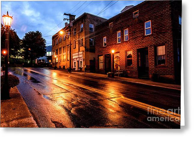 Main Street Webster Springs Greeting Card by Thomas R Fletcher