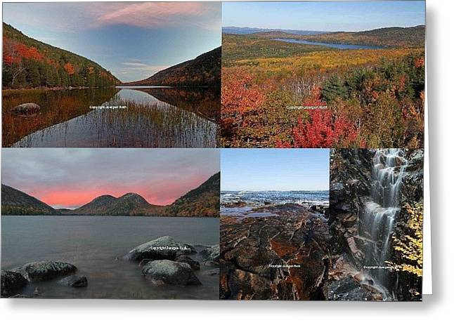 Maine Acadia National Park Landscape Photography Greeting Card by Juergen Roth