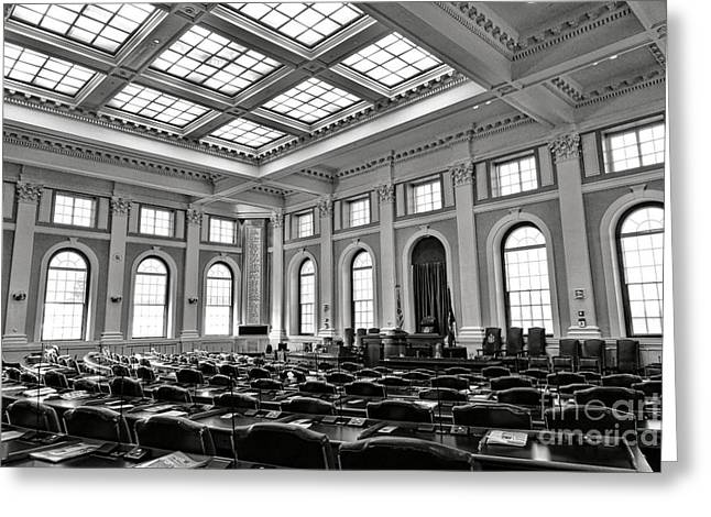 Maine Capitol House Of Representatives Chamber Greeting Card by Olivier Le Queinec