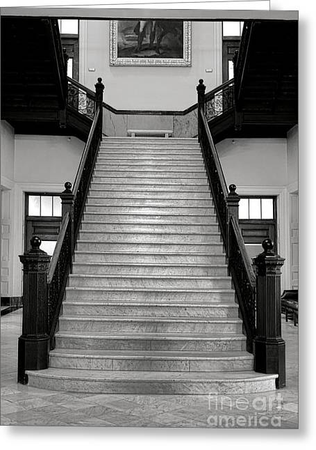 Maine Capitol West Wing Staircase Greeting Card