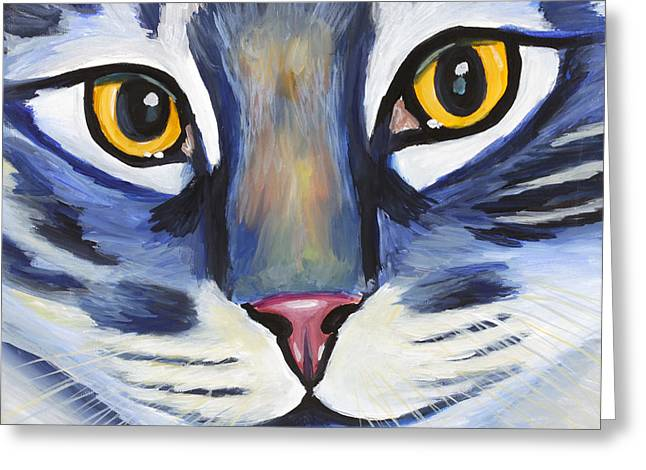 Maine Coon Greeting Card by Melissa Smith