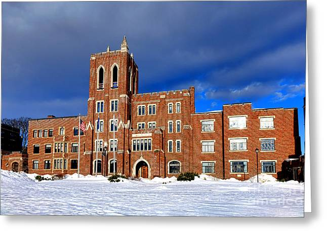 Maine Criminal Justice Academy In Snow Greeting Card