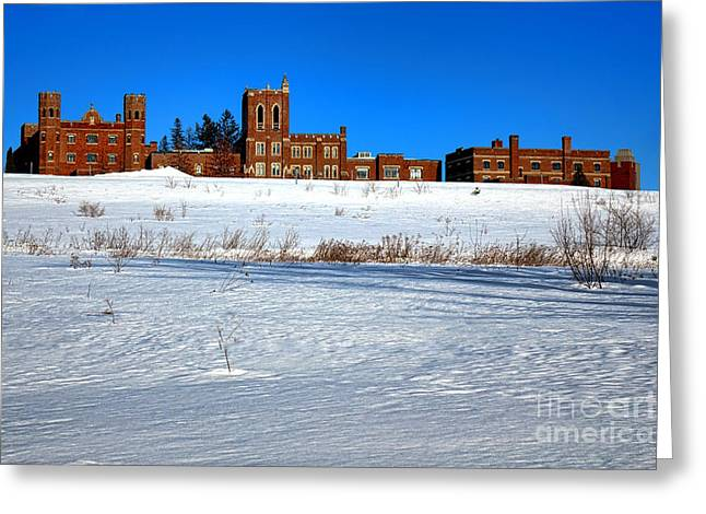 Maine Criminal Justice Academy In Winter Greeting Card by Olivier Le Queinec