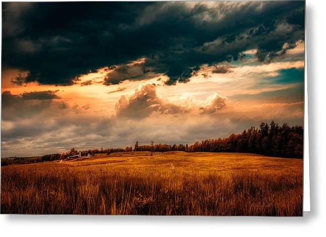 Maine Farm Greeting Card by Bob Orsillo