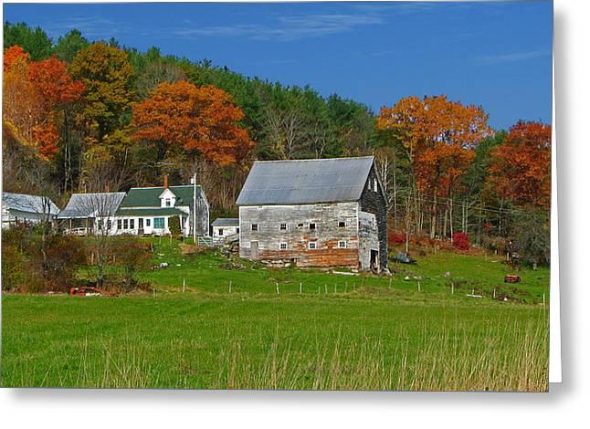 Maine Farmhouse Greeting Card