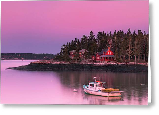 Maine Five Islands Coastal Sunset Greeting Card