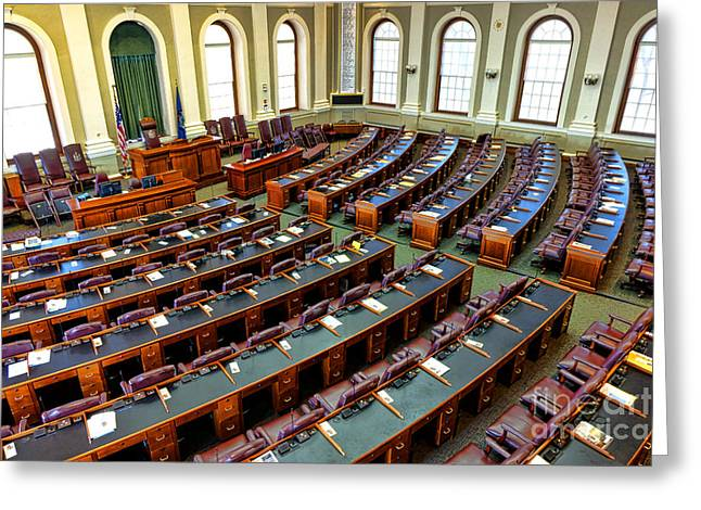 Maine House Of Representatives Chamber Greeting Card by Olivier Le Queinec
