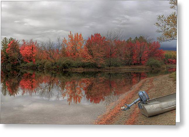 Maine Lake In Autumn Greeting Card