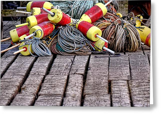 Maine Lobsterman Gear Greeting Card by Olivier Le Queinec