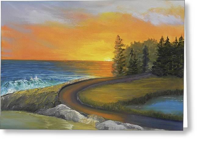 Maine Ocean Sunrise Greeting Card