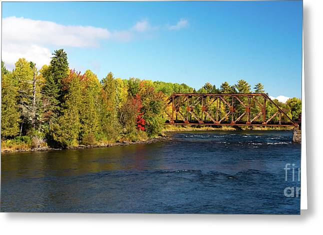 Maine Rail Line Greeting Card