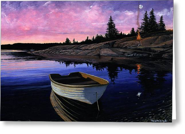 Maine Reflections Greeting Card by M S McKenzie