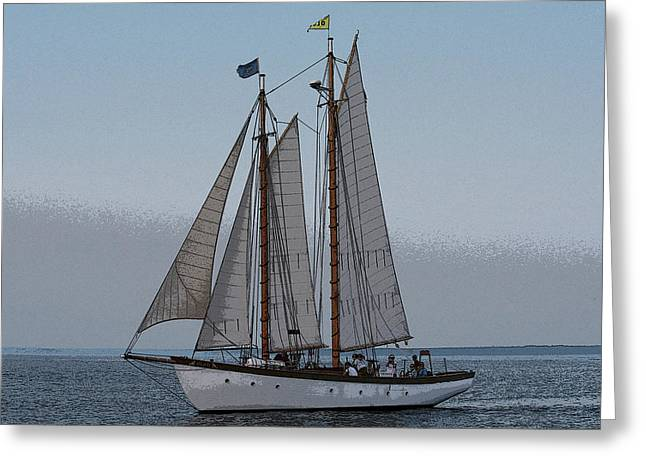 Maine Schooner Greeting Card