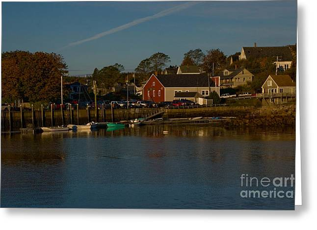 Maine- Seaports In Fall Greeting Card