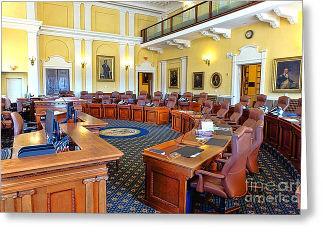 Maine Senate Chamber Greeting Card by Olivier Le Queinec