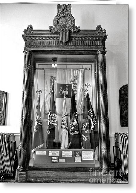 Maine State Capitol Hall Of Flags Modern Conflicts Display Case Greeting Card