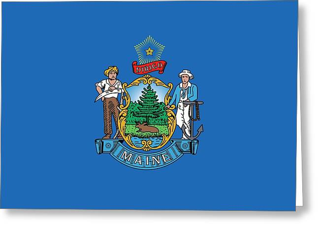 Maine State Flag Greeting Card by American School