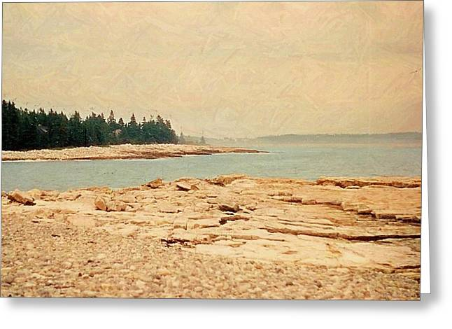 Maine Summer Greeting Card by Desiree Paquette