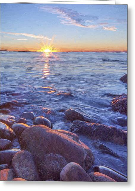 Mainly Water II Greeting Card by Jon Glaser