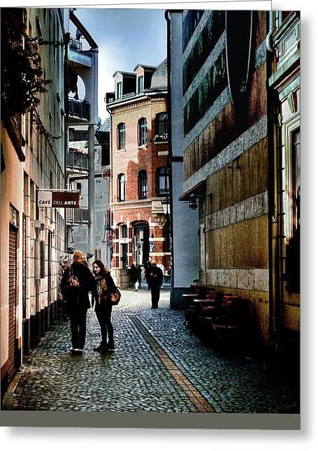 Greeting Card featuring the photograph Mainz Badergasse by Jim Hill