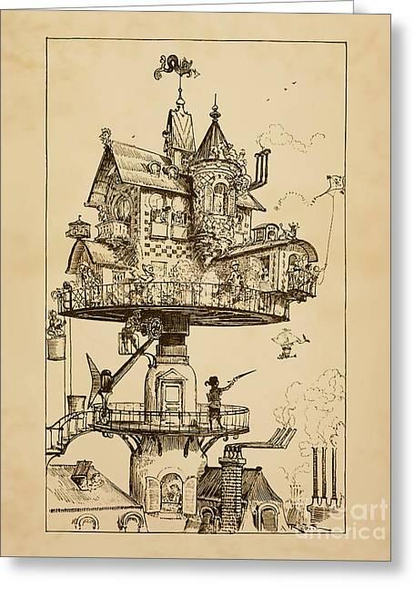 Maison Tournante Aerienne Greeting Card by Safran Fine Art