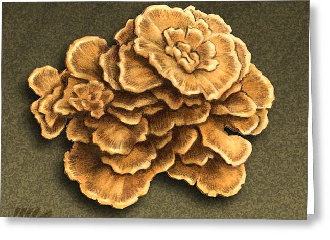 Maitake Mushroom Greeting Card by Marshall Robinson