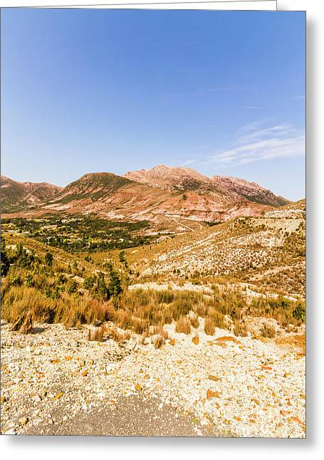 Majestic Arid Peaks Greeting Card