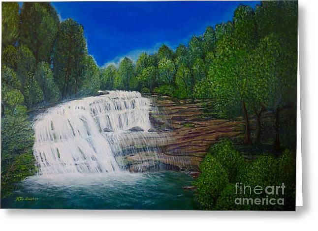 Majestic Bald River Falls Of Appalachia II Greeting Card by Kimberlee Baxter