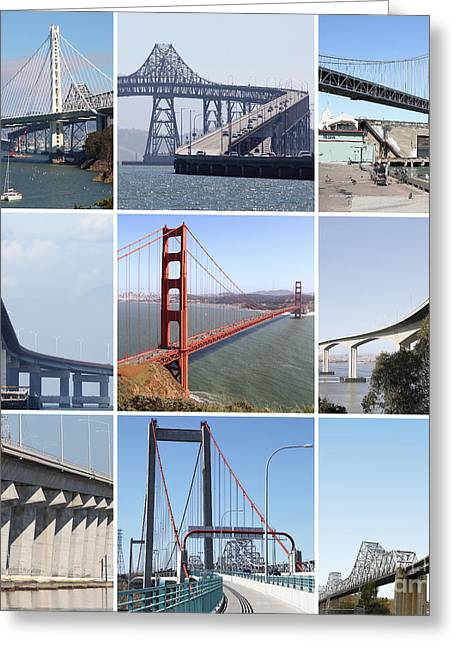 Majestic Bridges Of The San Francisco Bay Area 20150102 Greeting Card