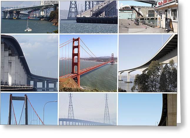 Majestic Bridges Of The San Francisco Bay Area Greeting Card