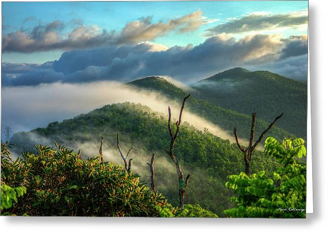 Majestic Clouds Blue Ridge Parkway Smoky Mountains Art Greeting Card by Reid Callaway