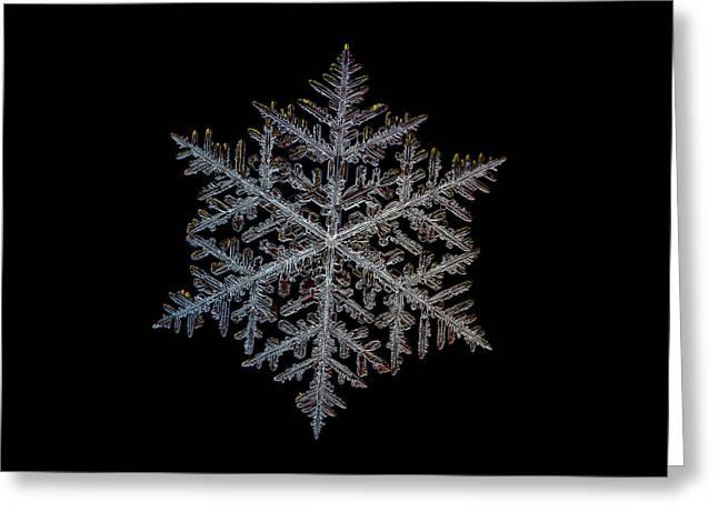 Majestic Crystal, Black Version Greeting Card by Alexey Kljatov