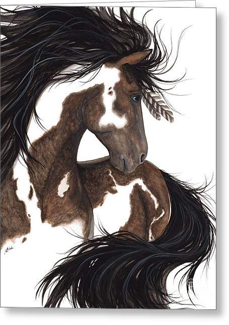 Majestic Dream Pinto Horse Greeting Card by AmyLyn Bihrle