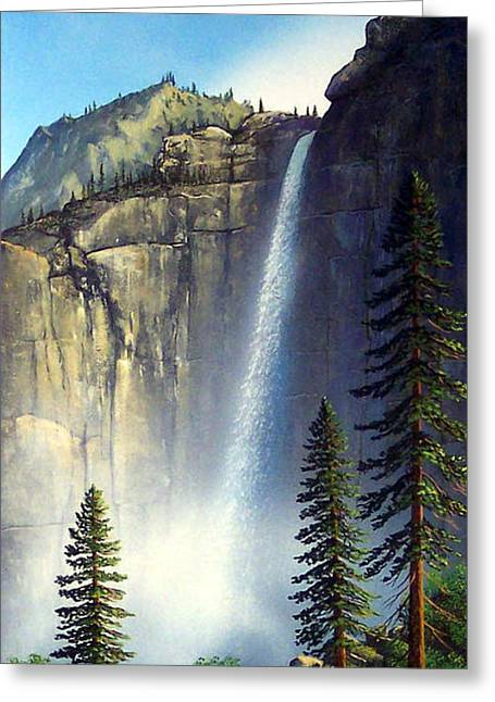 Majestic Falls Greeting Card by Frank Wilson