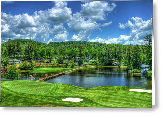 Majestic Golf Highlands Country Club Golf Art Greeting Card by Reid Callaway