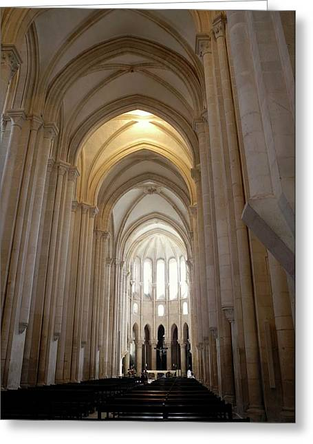 Greeting Card featuring the photograph Majestic Gothic Cathedral In Portugal by Kirsten Giving