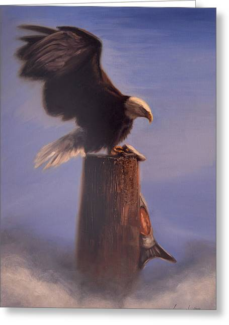 Majestic Greeting Card by Greg Neal