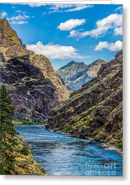 Majestic Hells Canyon Idaho Landscape By Kaylyn Franks Greeting Card