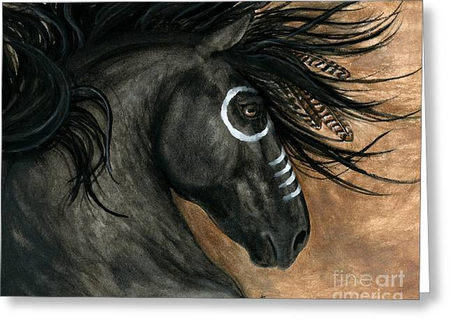 Majestic Horse 130 Greeting Card by AmyLyn Bihrle