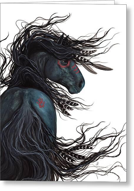 Majestic Horse Friesian 135 Greeting Card