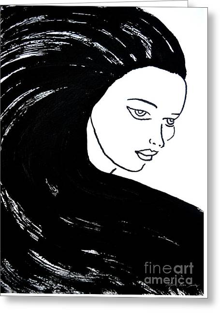 Majestic Lady J0715a Greeting Card