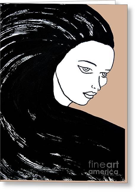 Majestic Lady J0715b Greeting Card
