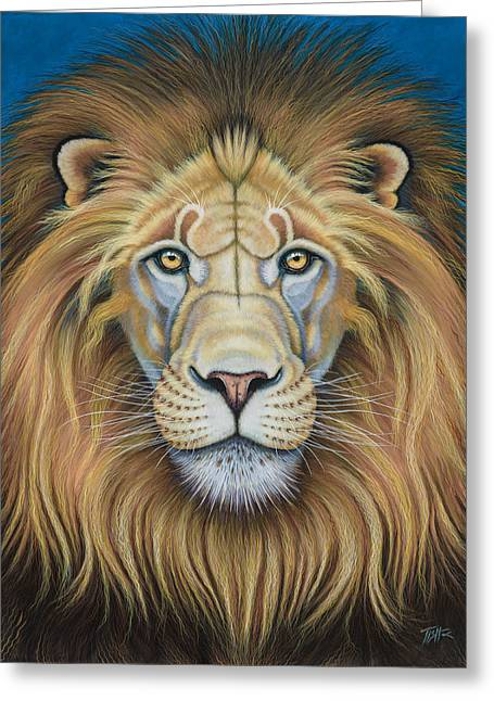The Lion's Mane Attraction Greeting Card
