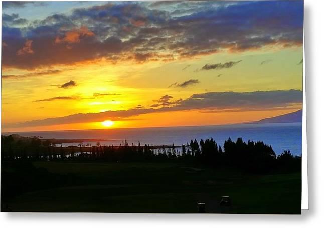 Majestic Maui Sunset Greeting Card