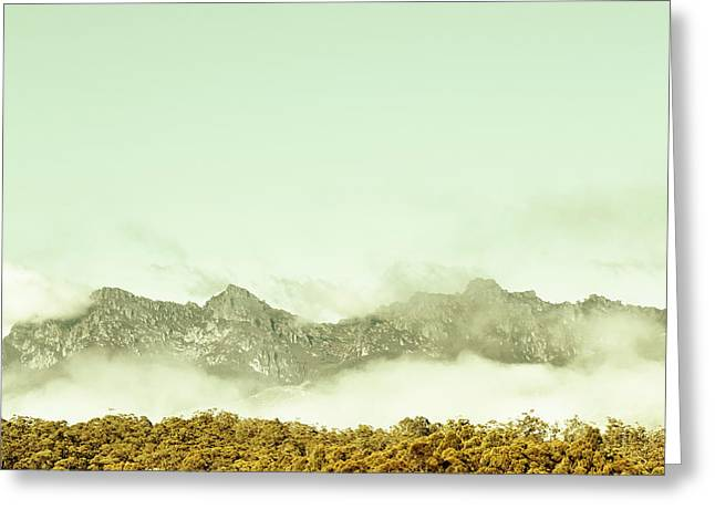 Majestic Misty Mountains Greeting Card